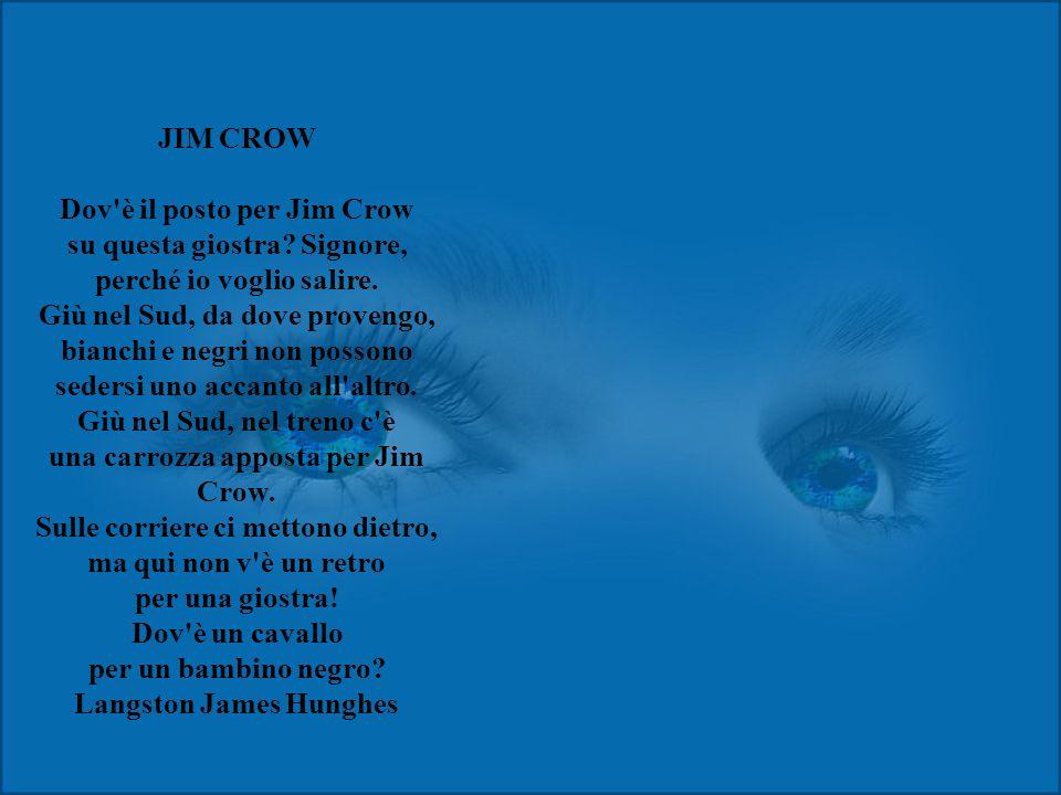 JIM CROW Dov è il posto per Jim Crow su questa giostra.