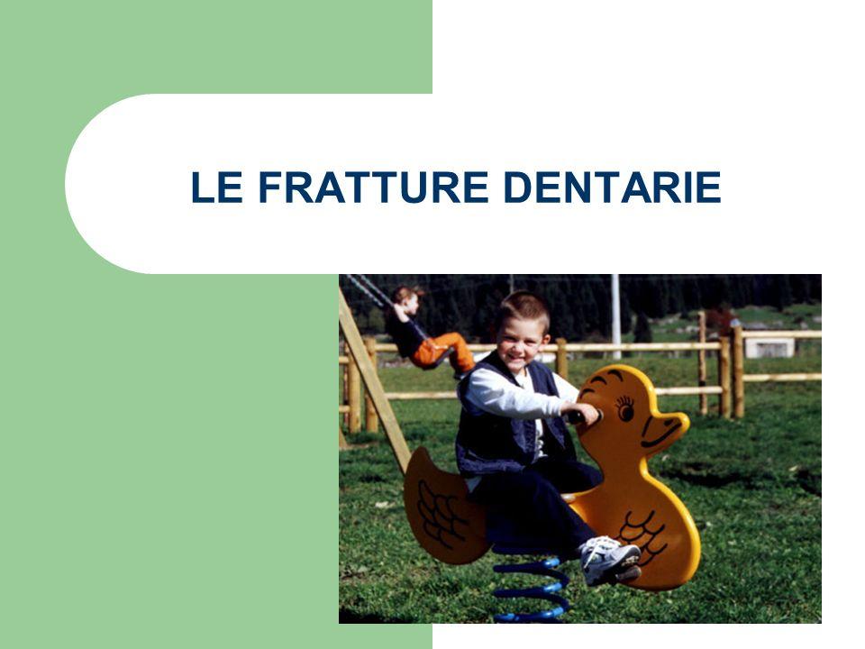 EPIDEMIOLOGIA La frequenza dei traumi dentali è alta e colpisce circa il 20% dei bambini in dentizione decidua ed oltre il 15% della dentizione permanente.