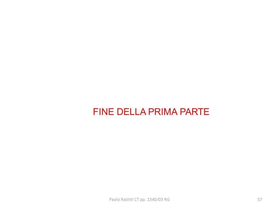 Paolo Rabitti CT pp. 1540/03 RG57 FINE DELLA PRIMA PARTE