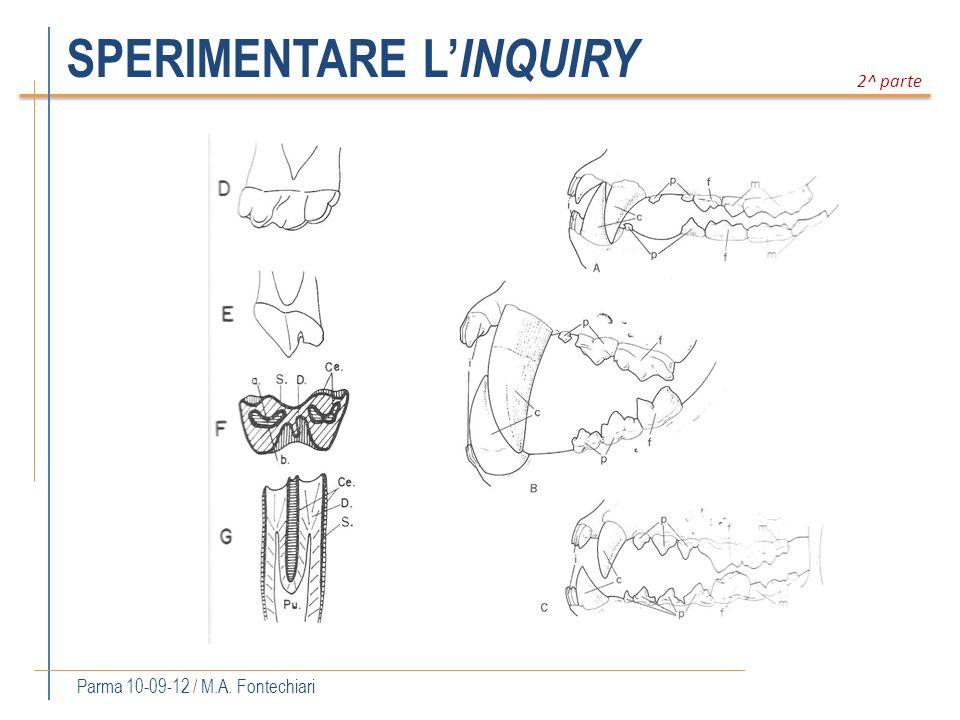 SPERIMENTARE L INQUIRY Parma 10-09-12 / M.A. Fontechiari 2^ parte