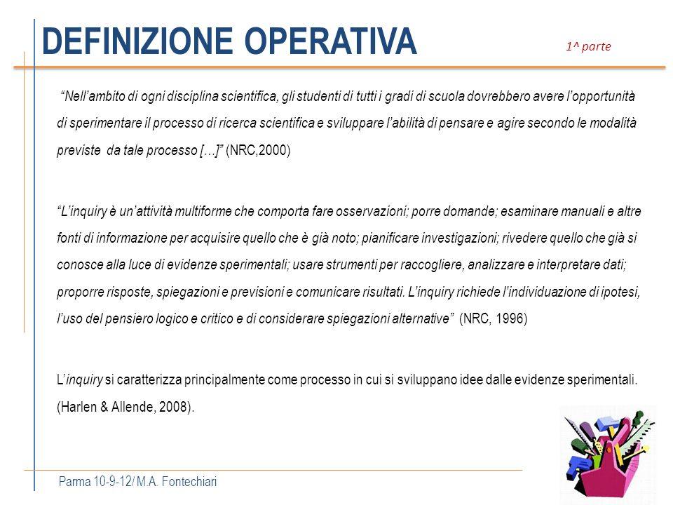 ELEMENTI CHIAVE Parma 10-09-12 / M.A.