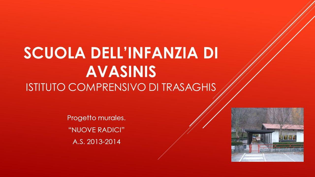 SCUOLA DELLINFANZIA DI AVASINIS ISTITUTO COMPRENSIVO DI TRASAGHIS Progetto murales. NUOVE RADICI A.S. 2013-2014