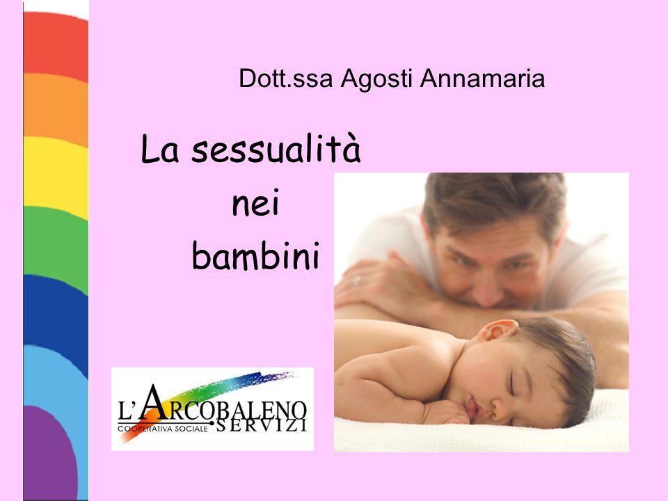 Dott.ssa Agosti Annamaria La sessualità nei bambini