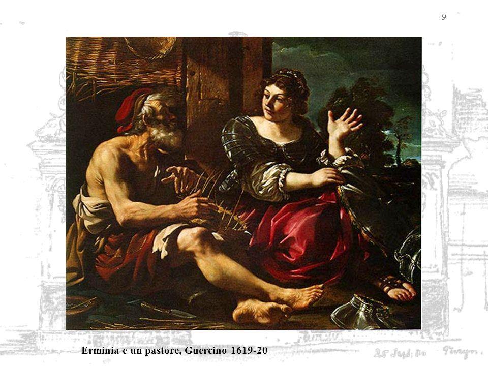 9 Erminia e un pastore, Guercino 1619-20