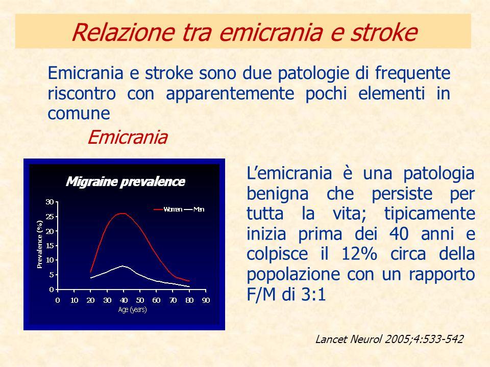 Relazione tra emicrania e stroke Emicrania e stroke sono due patologie di frequente riscontro con apparentemente pochi elementi in comune Lancet Neuro