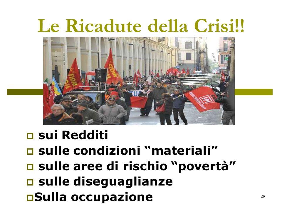 29 Le Ricadute della Crisi!.