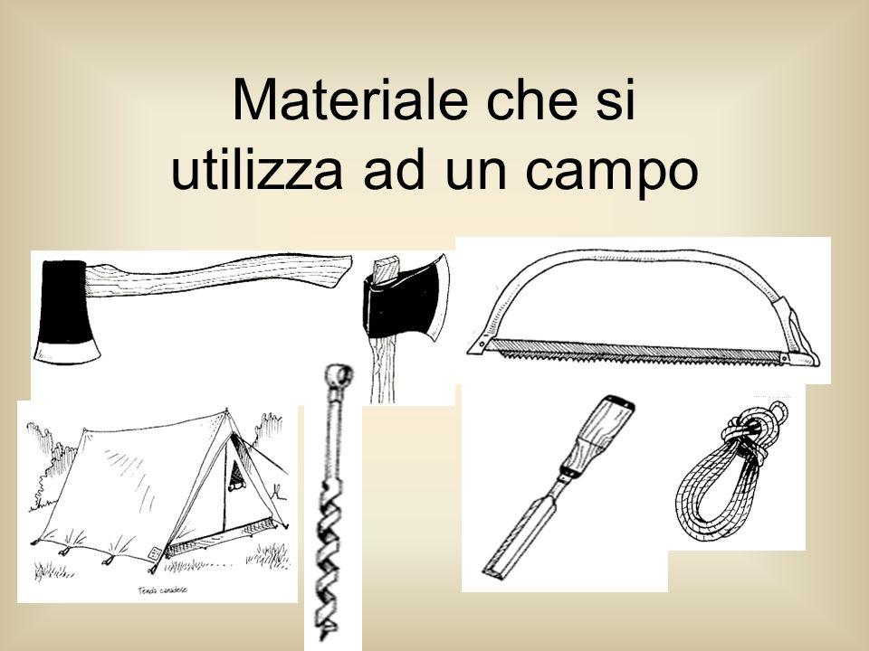 Materiale che si utilizza ad un campo