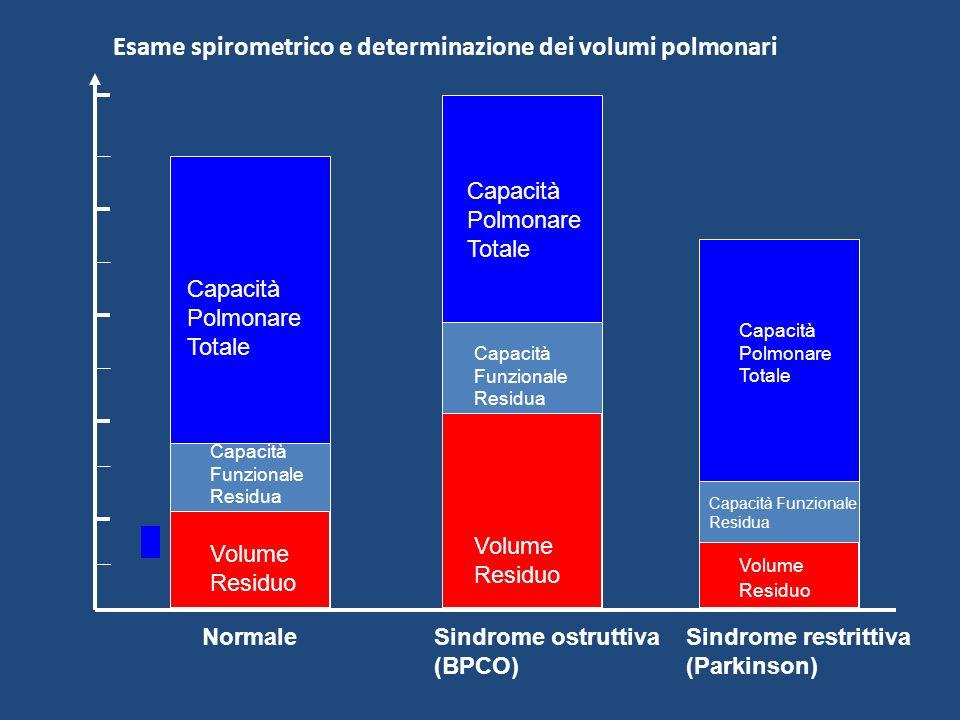 Esame spirometrico e determinazione dei volumi polmonari Volume Residuo Volume Residuo Capacità Funzionale Residua Capacità Funzionale Residua Capacit