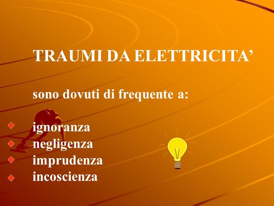 Cosa fare? In caso di ustioni da corrente elettrica cercare sia lustione dentrata che duscita della corrente e trattarle entrambe come ustioni di 3°.