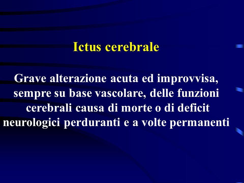 Attacco ischemico transitorio TIA Temporanea e limitata disfunzione cerebrale di origine vascolare a rapida instaurazione e altrettanto rapida risoluz