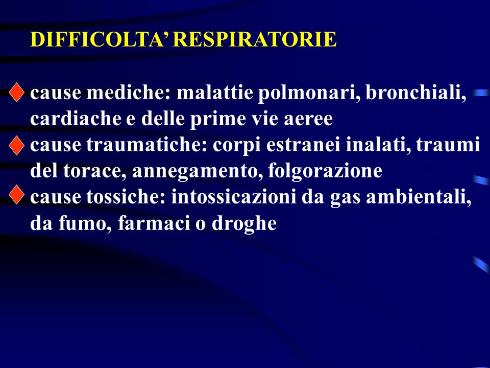 Insufficienza respiratoria Linsufficienza respiratoria si ha quando il polmone non può assicurare unadeguata ossigenazione del sangue arterioso. Può e