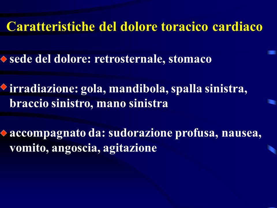 Il dolore toracico cardiaco E provocato da una riduzione dellapporto di ossigeno, che è assicurato al cuore dalle arterie coronariche. Se si riduce la