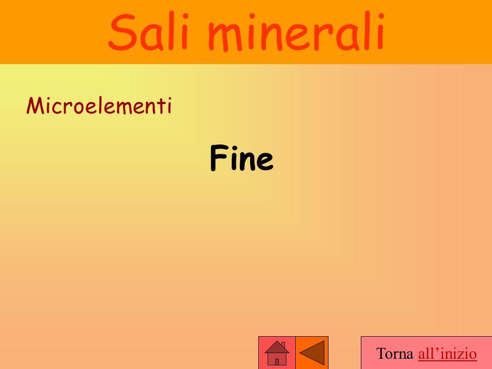 Torna allinizio Sali minerali Microelementi Fine