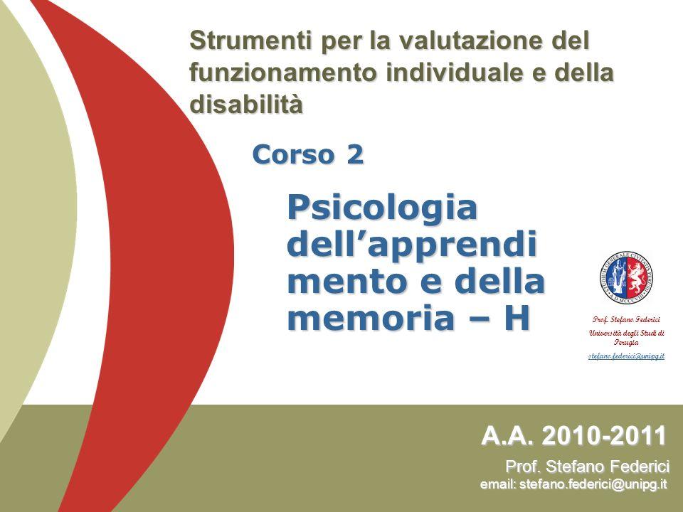 WHODAS II Federici, S., Meloni, F., Mancini, A., Lauriola, M., & Olivetti Belardinelli, M.