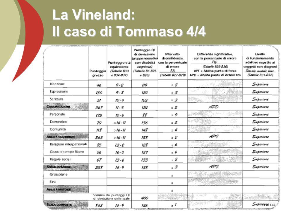 Prof. Stefano Federici La Vineland: Il caso di Tommaso 4/4 141 di 144