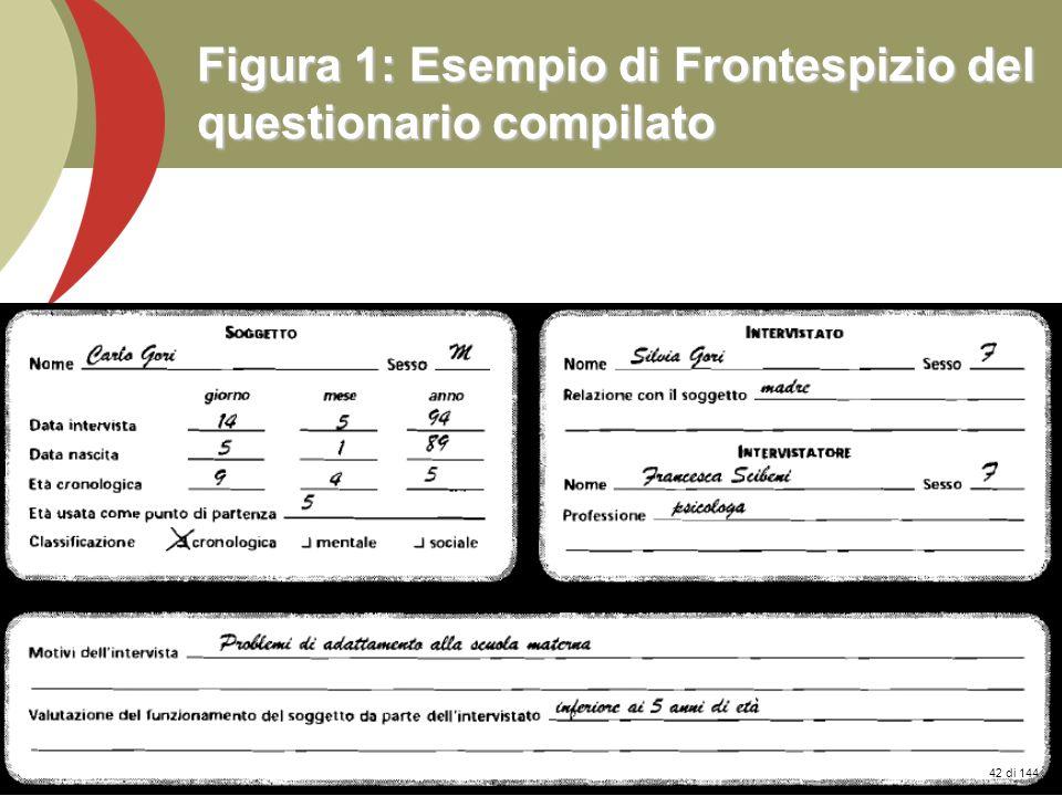 Prof. Stefano Federici Figura 1: Esempio di Frontespizio del questionario compilato 42 di 144