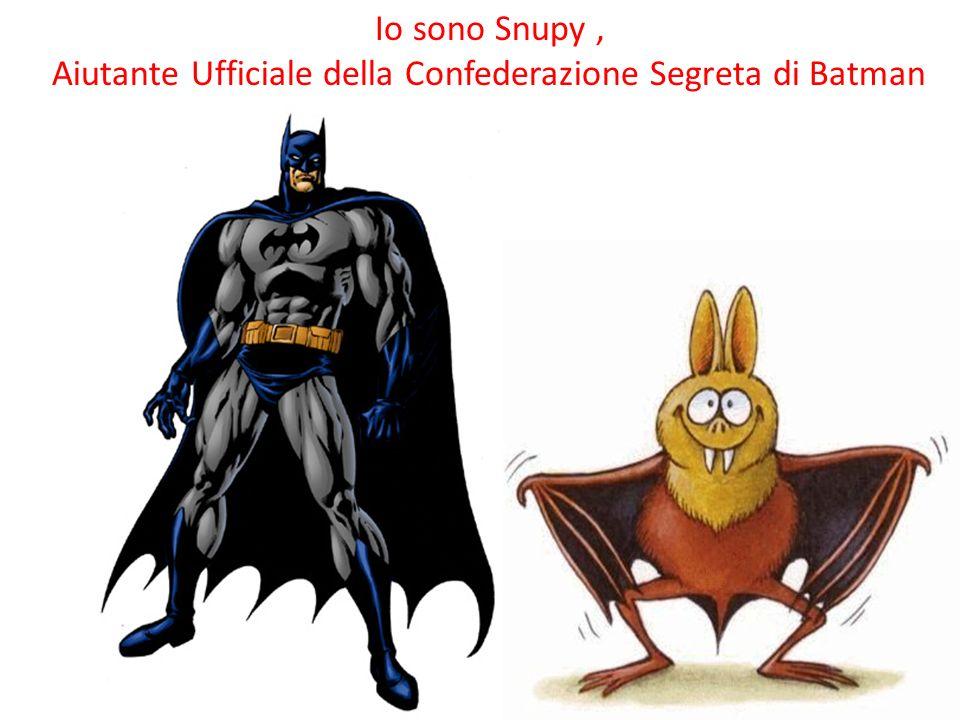 Io sono Snupy, Aiutante Ufficiale della Confederazione Segreta di Batman