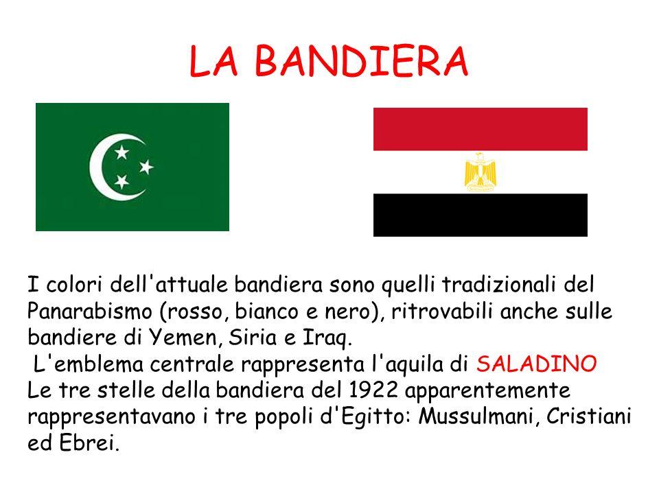 LA BANDIERA I colori dell'attuale bandiera sono quelli tradizionali del Panarabismo (rosso, bianco e nero), ritrovabili anche sulle bandiere di Yemen,