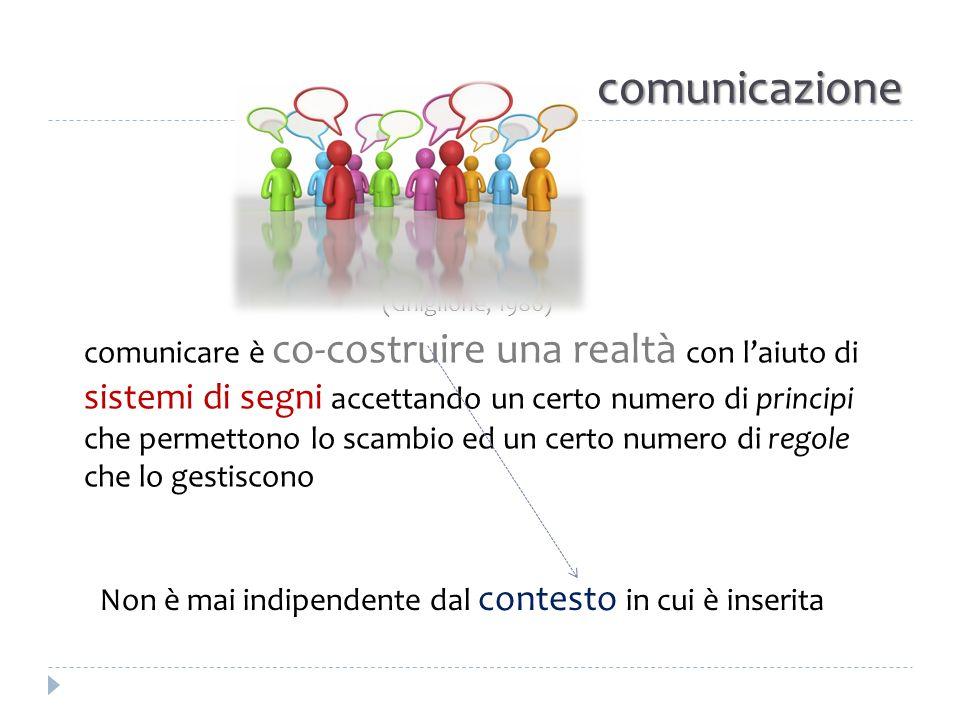 comunicazione La comunicazione è: 1.attività eminentemente sociale 2.