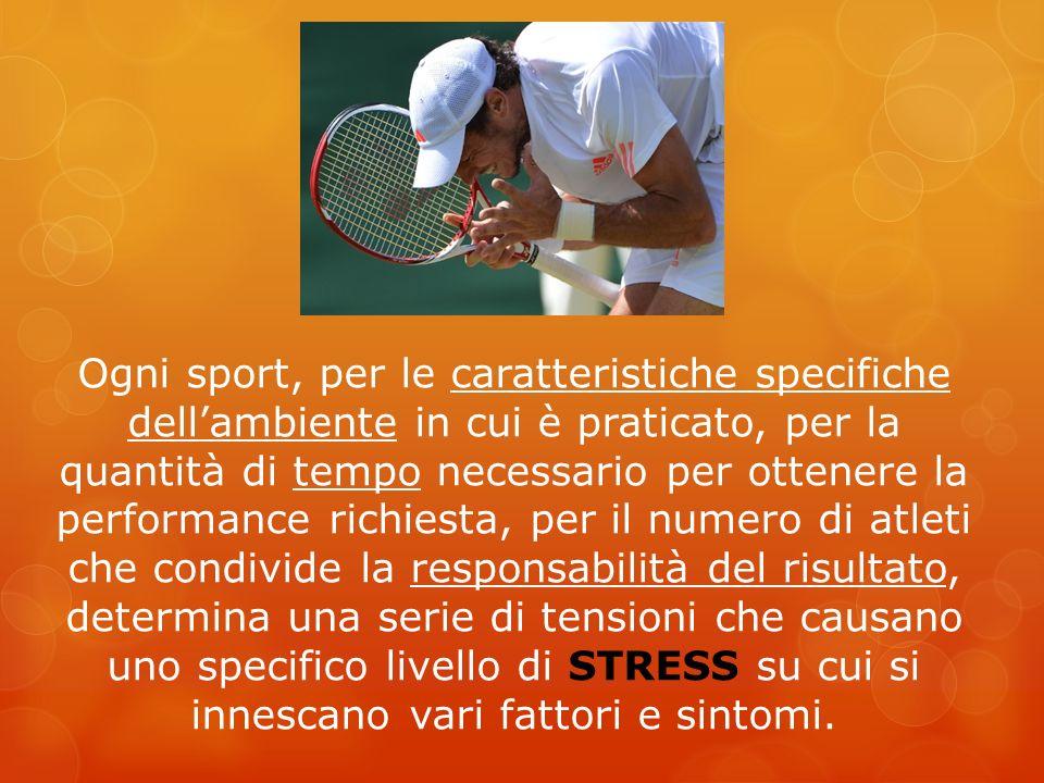 Ogni sport, per le caratteristiche specifiche dellambiente in cui è praticato, per la quantità di tempo necessario per ottenere la performance richies