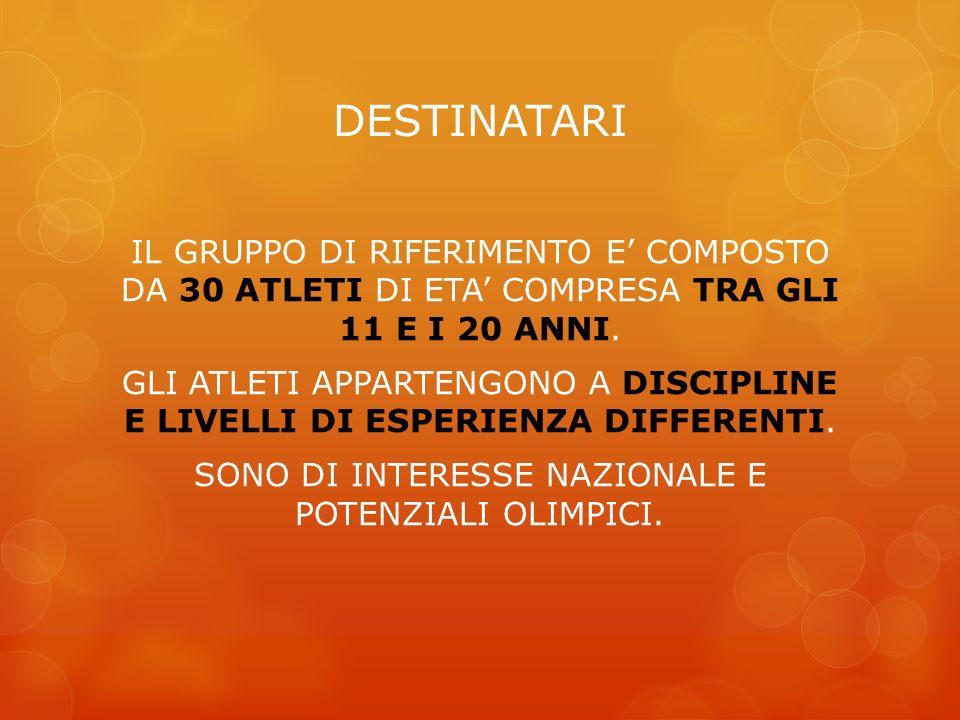 PRESENTAZIONE DELLO STUDIO: Lo studio è stato effettuato su 107 adolescenti di discipline sportive diverse (volley, pugilato e calcio), di età compresa tra i 12 ei 22 anni, residenti nella provincia di Pesaro-Urbino (PU).