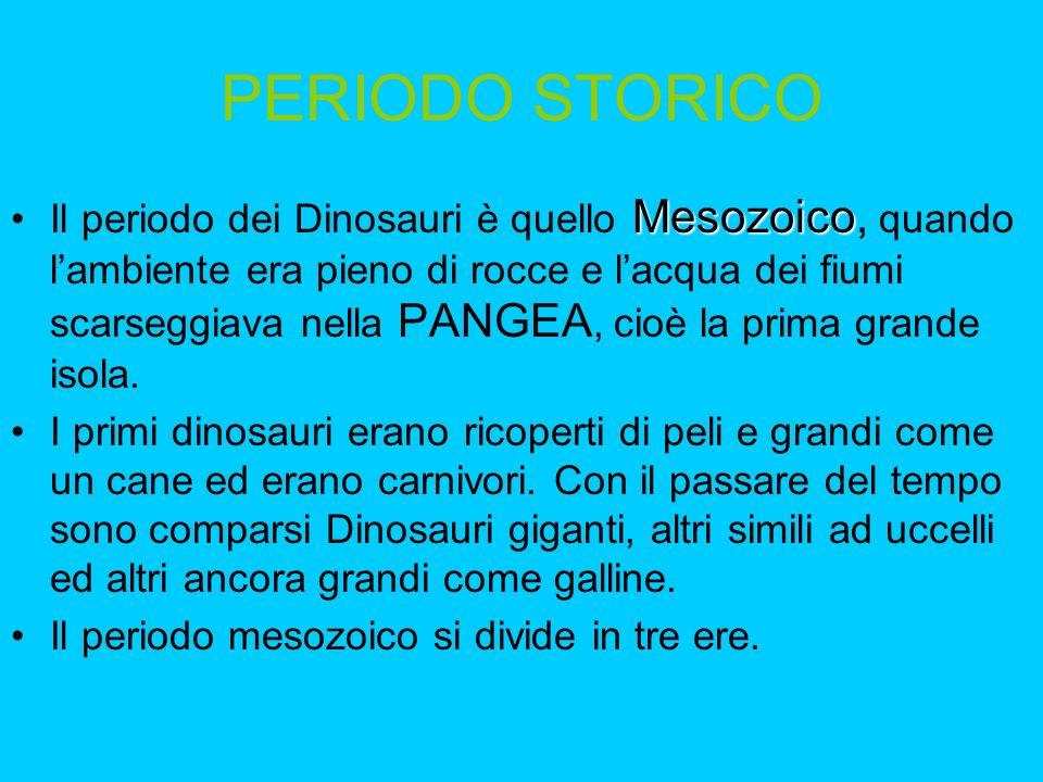 TOROSAURO Cugino del Triceratopo, aveva una grande cresta ossea sul capo da cui spuntavano due corna, sotto di esse cerano gli occhi molto vicini al naso.