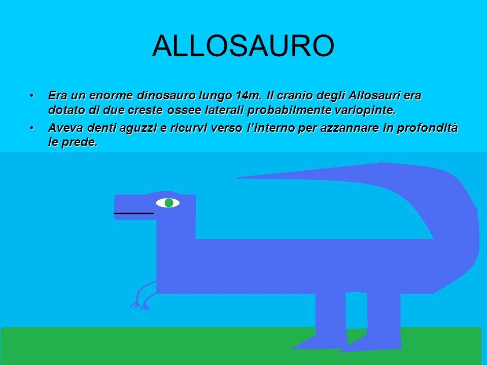 GIGANOTOSAURUS Il più grande carnivoro, pesava 8t.