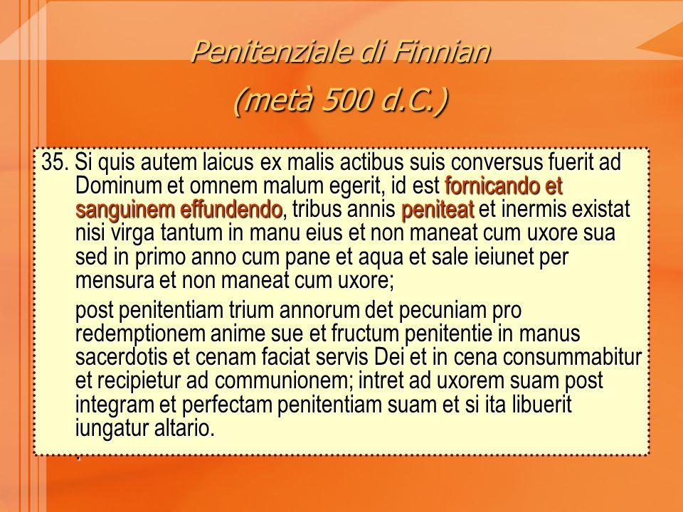Penitenziale di Finnian (metà 500 d.C.) 35.