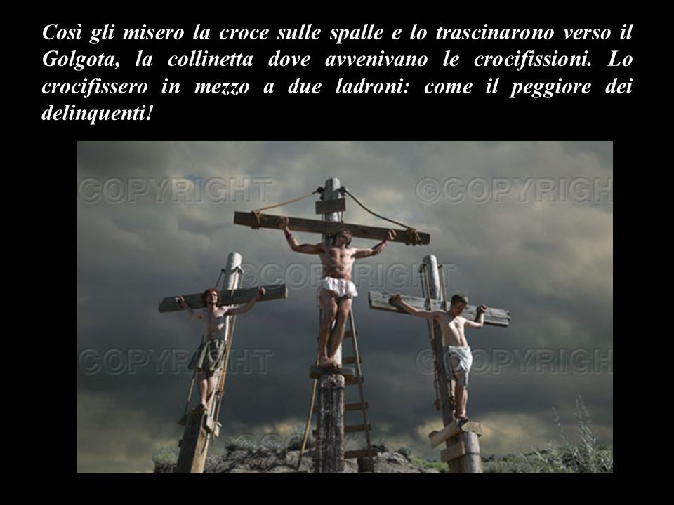 La gente però gridava: Se lo liberi, non sei un servitore di Cesare.