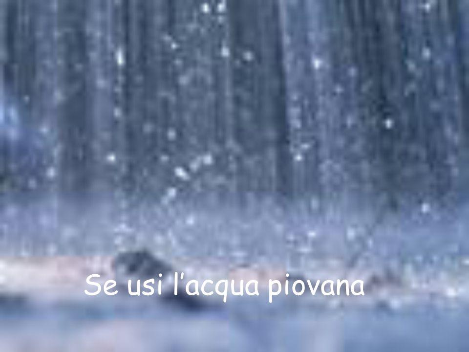 Se usi lacqua piovana