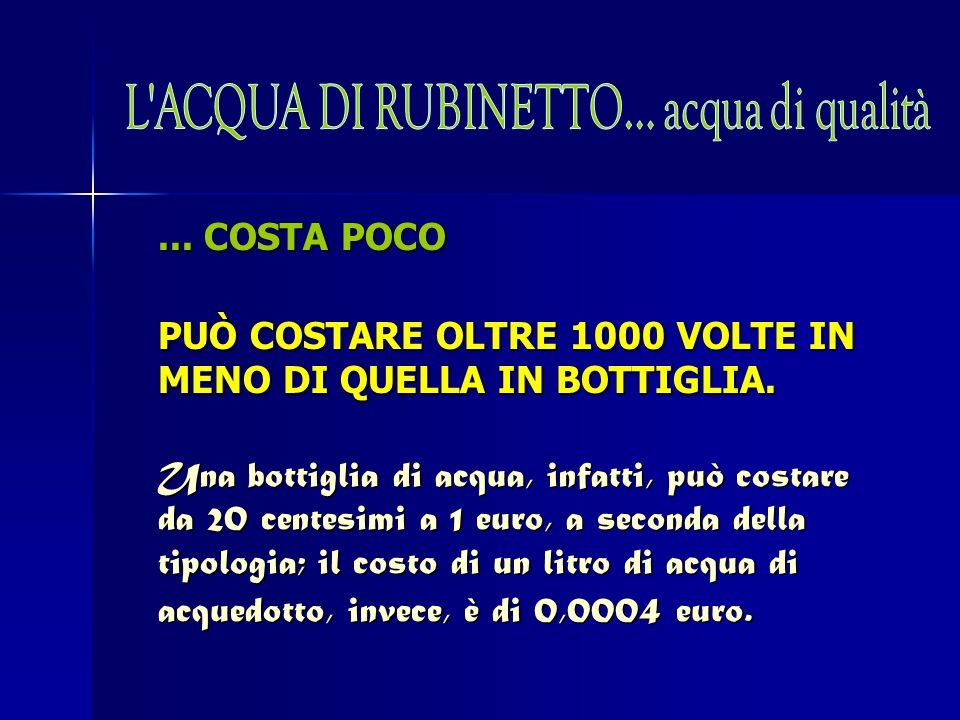 ...NON CREA RIFIUTI NON RICHIEDE LUTILIZZO DI BOTTIGLIE, ETICHETTE, COLLE ED IMBALLAGGI.