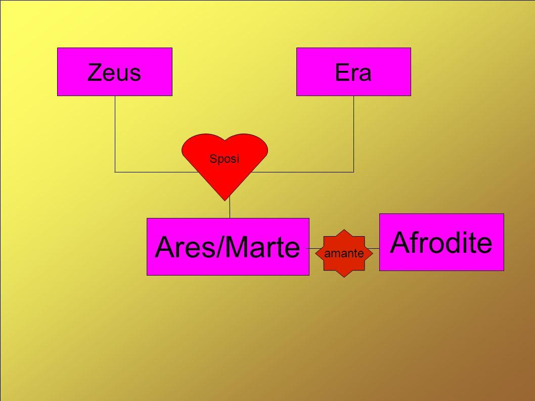ZeusEra Ares/Marte Sposi Afrodite amante