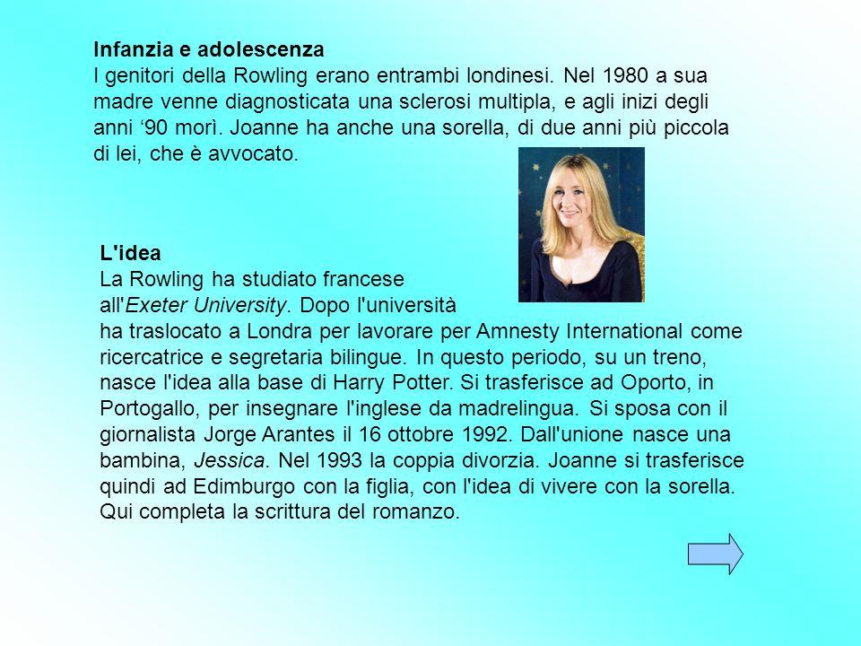 Joanne Kathleen Rowling è nata il 31 luglio 1965 a Yate, GranBretagna, è una scrittrice inglese. È famosa in tutto il mondo per aver scritto la serie