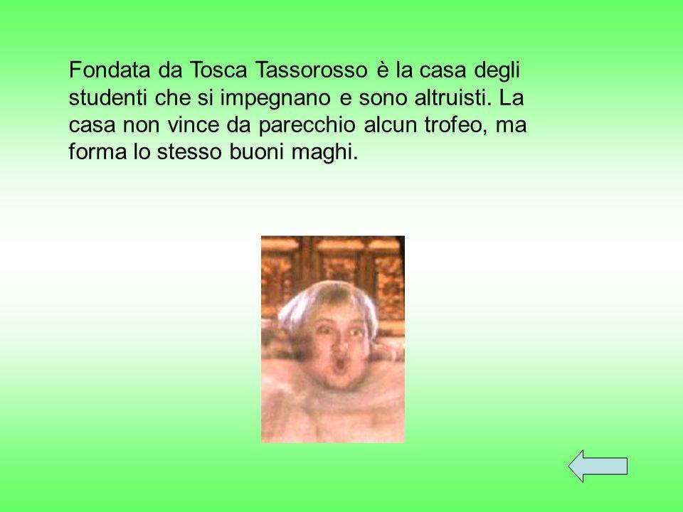 Giallo & NeroColori: Frate GrassoFantasma: Professoressa Sprite Direttrice: Un tassoSimbolo: Tosca Tassorosso Fondatrice: