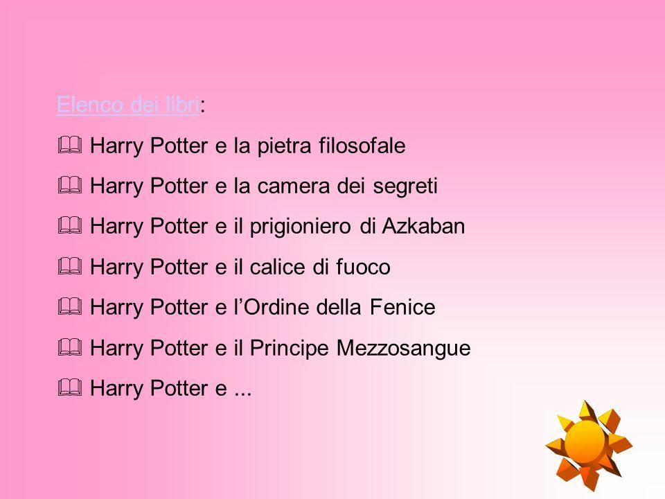 Harry Potter è una serie di sette libri ideata dallautrice inglese Joanne Kathleen Rowling.Joanne Kathleen Rowling I libri raccontano le avventure di