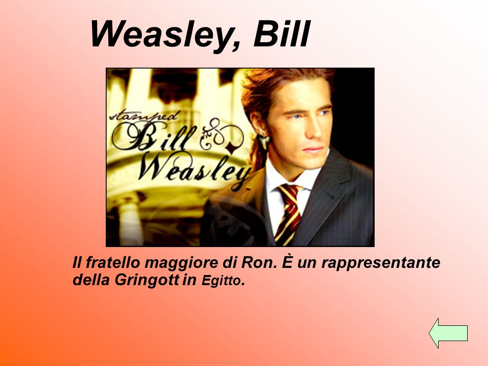 Weasley, Molly Molly è la moglie di Arthur, madre di Bill, Charlie, Percy, Fred, George, Ron e Ginny. Il cognome da ragazza di Molly è Prewett. È una