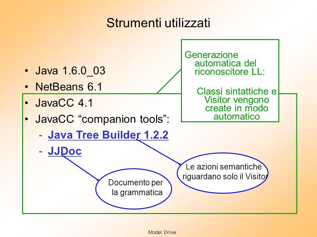 Model Drive Analisi Semantica: il calcolo del significato In generale Che significato si attribuisce ad una frase sintatticamente corretta di un lingu