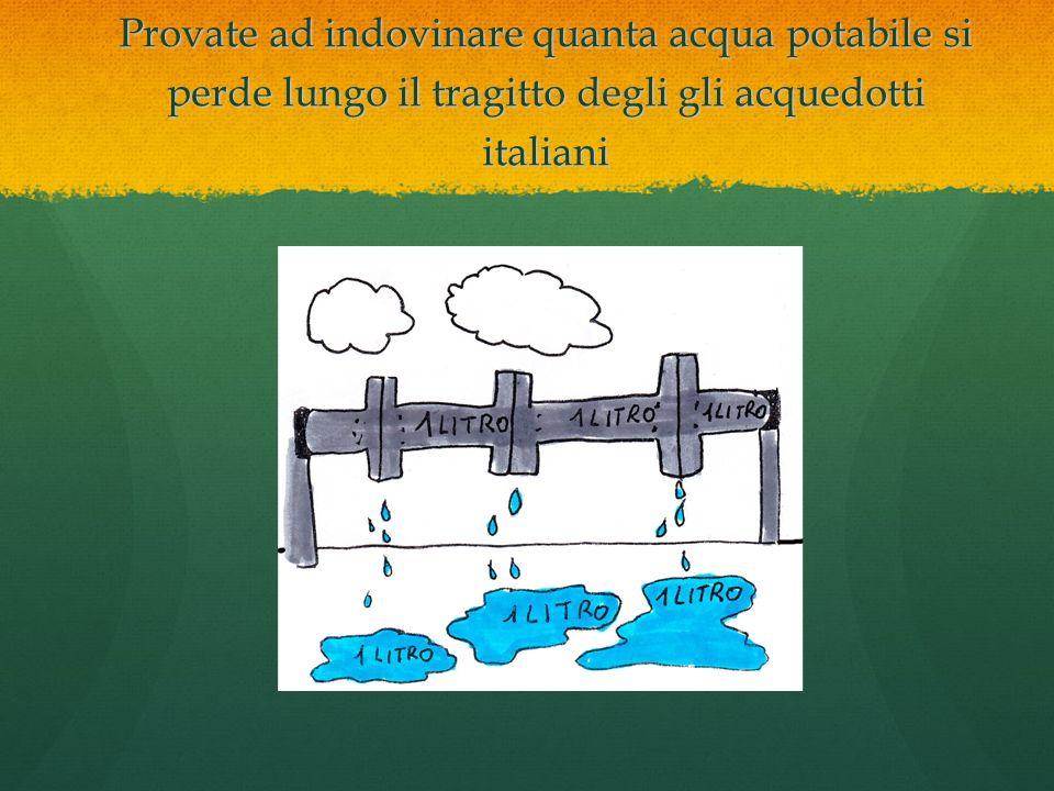 Provate ad indovinare quanta acqua potabile si perde lungo il tragitto degli gli acquedotti italiani 1 litro su 2