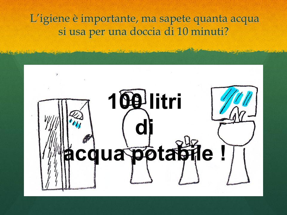 Ligiene è importante, ma sapete quanta acqua si usa per una doccia di 10 minuti? Ligiene è importante, ma sapete quanta acqua si usa per una doccia di