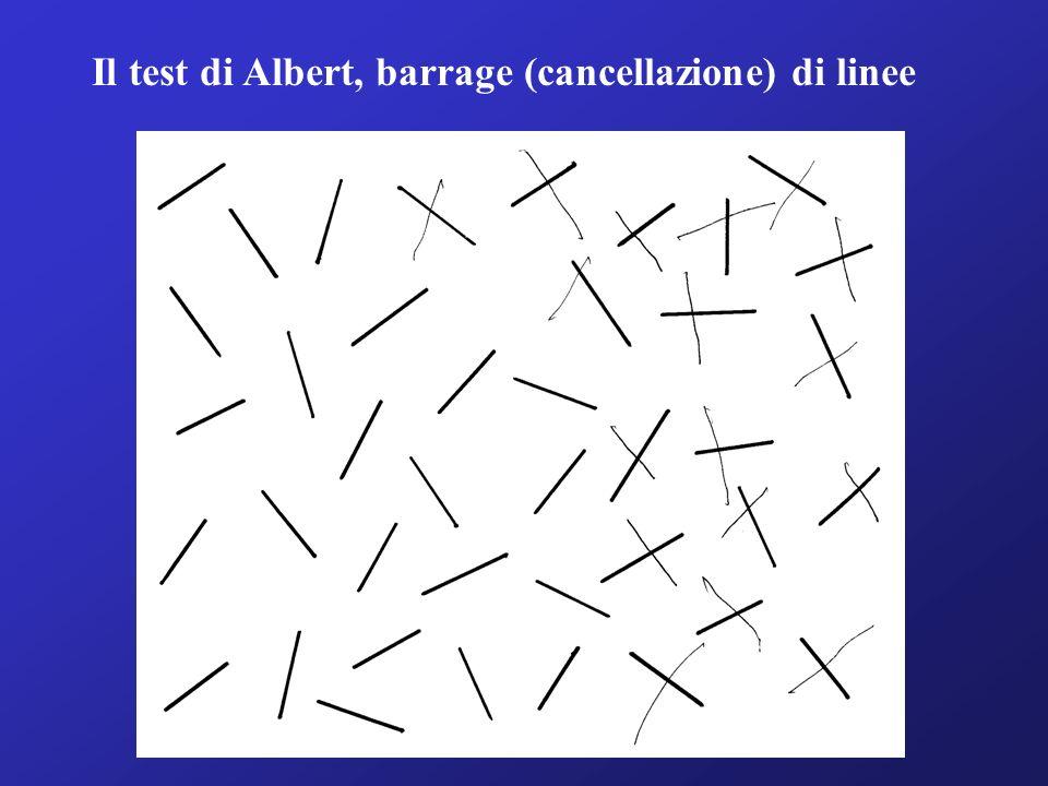 Il test di Albert, barrage (cancellazione) di linee