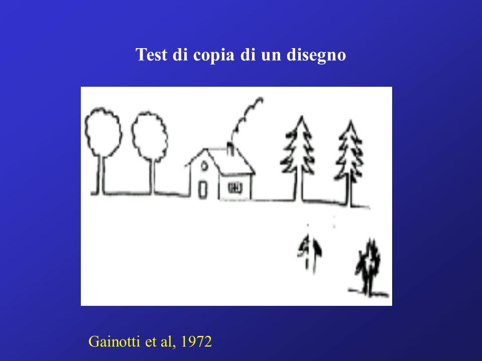 Test di copia di un disegno Gainotti et al, 1972