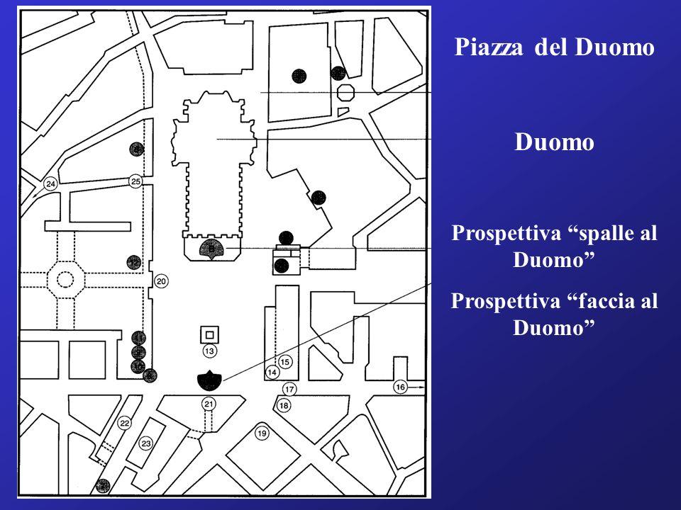 Piazza del Duomo Duomo Prospettiva spalle al Duomo Prospettiva faccia al Duomo
