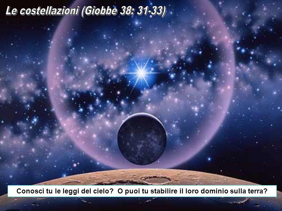 Conosci tu le leggi del cielo? O puoi tu stabilire il loro dominio sulla terra?