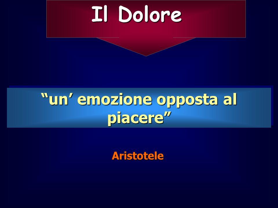 Il Dolore un emozione opposta al piacere Aristotele