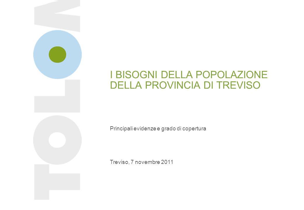 I BISOGNI DELLA POPOLAZIONE DELLA PROVINCIA DI TREVISO Principali evidenze e grado di copertura Treviso, 7 novembre 2011