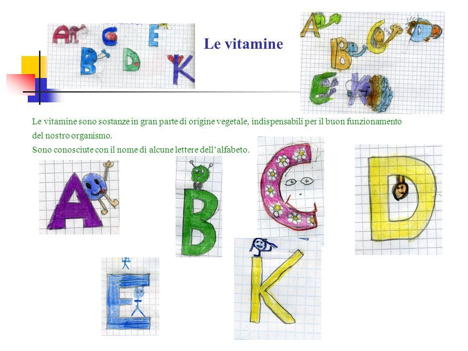 Le vitamine Le vitamine sono sostanze in gran parte di origine vegetale, indispensabili per il buon funzionamento del nostro organismo. Sono conosciut