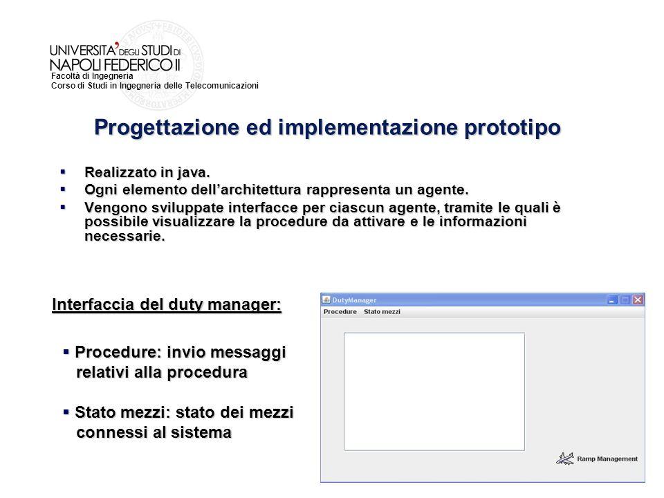 Facoltà di Ingegneria Corso di Studi in Ingegneria delle Telecomunicazioni Realizzato in java.