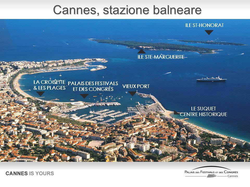 Cannes, stazione balneare VIEUX PORT LE SUQUET CENTRE HISTORIQUE PALAIS DES FESTIVALS ET DES CONGRÈS LA CROISETTE & LES PLAGES ILE STE-MARGUERITE ILE