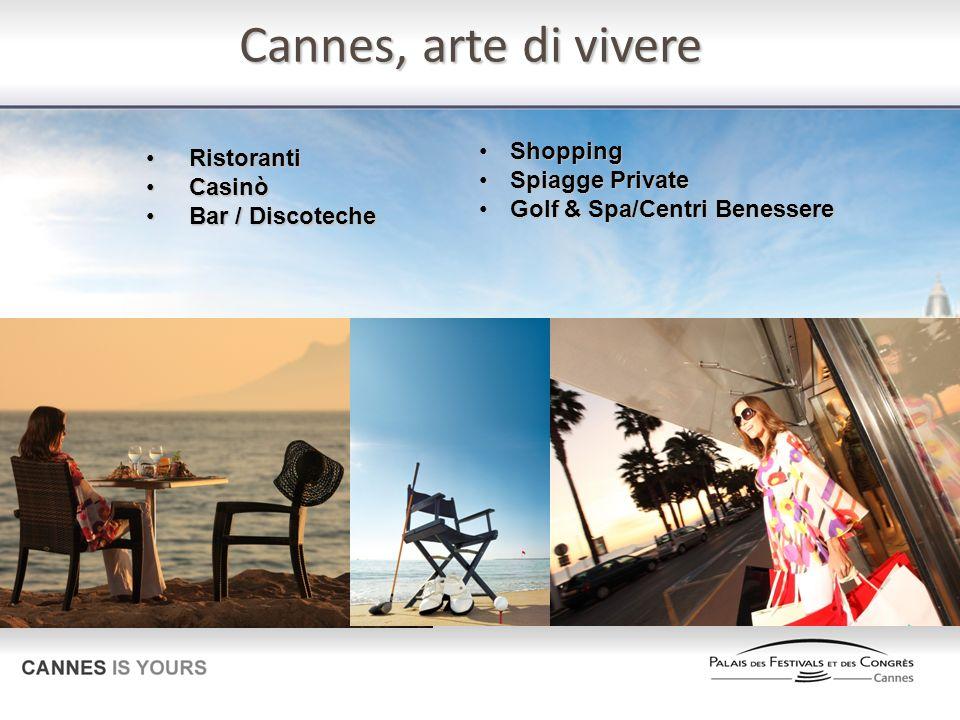 Cannes, arte di vivere Ristoranti Ristoranti Casinò Casinò Bar / Discoteche Bar / Discoteche Shopping Shopping Spiagge Private Spiagge Private Golf &
