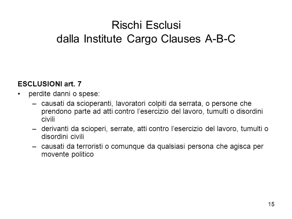 institute cargo clauses essay 1/1/09 institute cargo clauses (a) risks covered risks ~his insurance covers all risks of loss of or damage to the subject-matter insured except as.